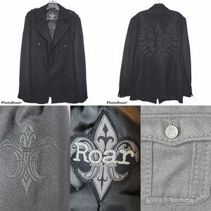 ROAR INSPIRE MEN'S PEACOAT BLACK SZ XL EMBROIDERED